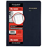 """AT-A-GLANCE Weekly Appointment Book / Planner, January 2018 - January 2019, 8-1/4"""" x 10-7/8"""", Navy (7095020)"""
