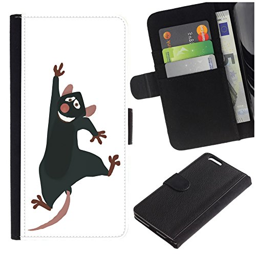 [Funny Cartoon Jumping Rat] for Samsung Galaxy S8 Active, Flip Leather Wallet Holsters Pouch Skin Case]()