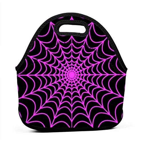 Jinkela Lunch Bag Halloween Spider Web Insulated Reusable Lunch Box Portable Lunch Tote Bag Meal Bag Ice Pack for Kids Boys Girls Adult Men -