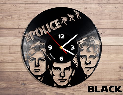 ArtGrain.pro the police vinyl clock Wall clock Home decor Ro