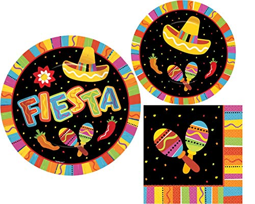 Fiesta Fun Party Pack (16 Fiesta Luncheon Napkins, 8 7