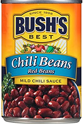 Amazon Com Bush S Best Canned Mild Red Chili Beans Pack Of 12 Source Of Plant Based Protein And Fiber Low Fat Gluten Free 16 Oz Grocery Gourmet Food