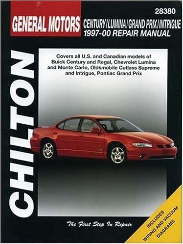 gm century lumina grand prix and intrigue 1997 00 chilton total rh amazon com Pontiac Grand AM 2008 Pontiac Grand Prix