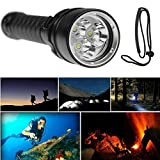 Flashlight 8000LM 3x XML L2 LED Scuba Diving Underwater Baomabao 100M Torch Waterproof