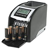 Royal Sovereign FS44P Fast Sort FS-44P Digital Coin Sorter, Pennies Through Quarters, Black/Silver
