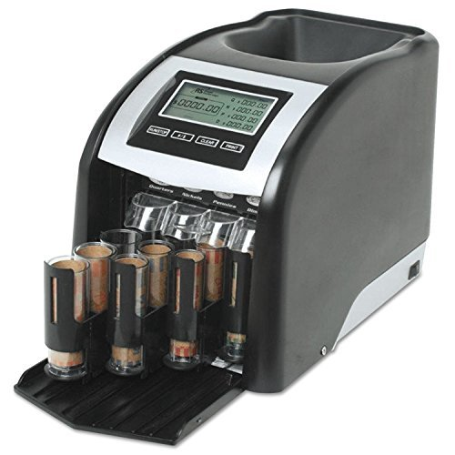 Royal Sovereign FS44P Fast Sort FS-44P Digital Coin Sorter, Pennies Through Quarters, Black/Silver ()