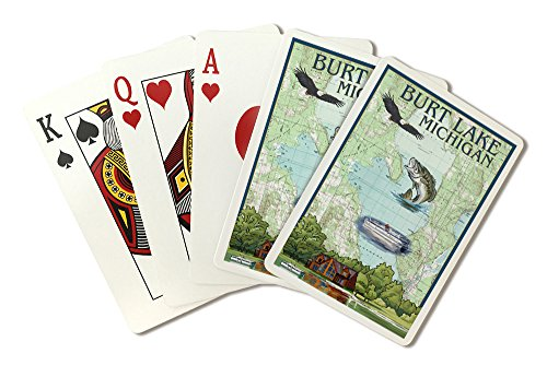 Burt Lake, Michigan - Nautical Chart (Playing Card Deck - 52 Card Poker Size with Jokers) by Lantern Press