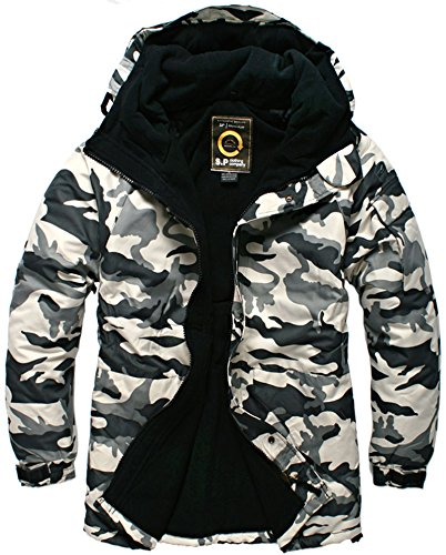 (Southplay Mens Waterproof Sky-snowboard Military Jacket White Camo (Small))