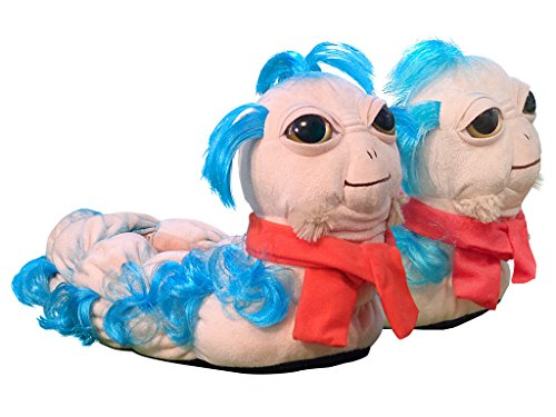 Labyrinth 'Ello Worm Plush Slippers by Toy Vault