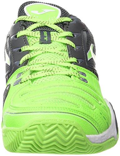 Joma T.Set 611 Clay Limon Fluor-Negro, Zapatillas de Tenis para Hombre AMARILLO FLÚOR-NEGRO