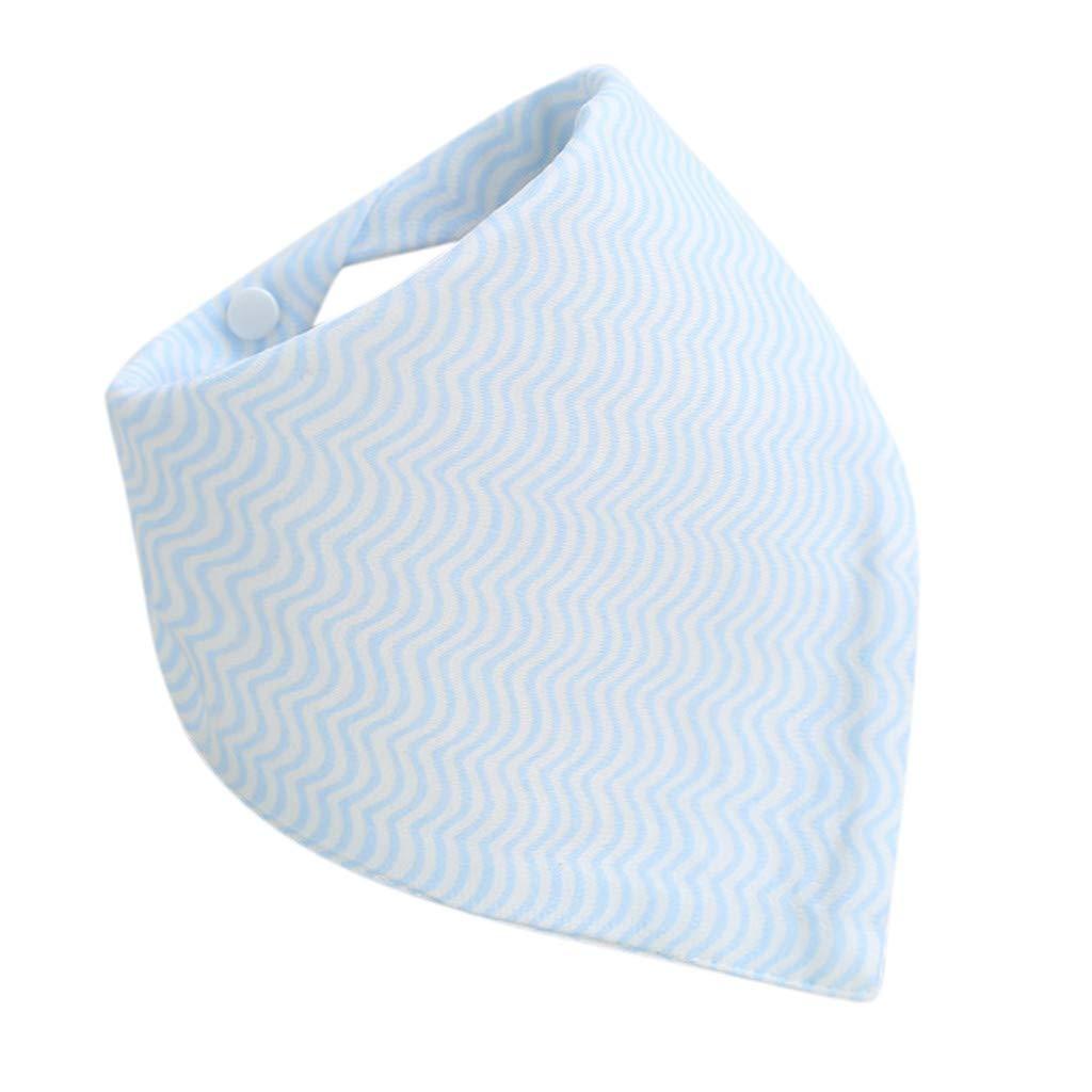 Bandana Bibs for Boys Shusuen Cotton Waterproof Saliva Towel Drools Bibs for Toddlers Sky Blue by Shusuen_baby (Image #1)