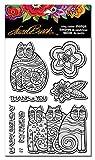 Stampendous Cling Stamp, Laurel Burch Feline Blooms
