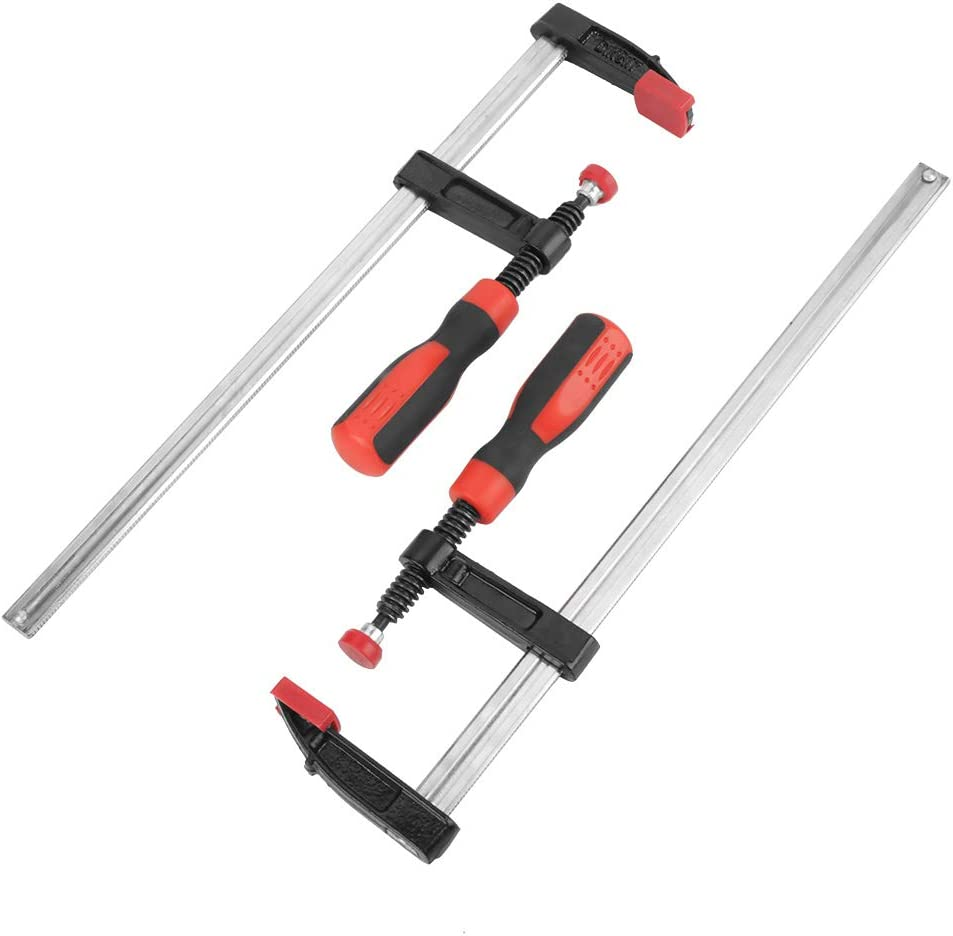 2Pcs Heavy Duty F Clamps Bar Clamp Woodworking Bar Clips Quick Slide Wood Clamp DIY Hand Tool Kit 50x300mm Woodworking F Clamp