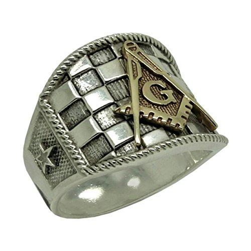 handmade-sterling-silver-925-and-10k-solid-yellow-gold-custom-made-masonic-star-freemasonry-mens-rin