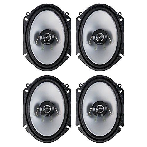Kenwood 6 x 8-Inch 250-Watt 2-Way Coaxial Speakers, Pair (2 Pair) (Kenwood 6x8 Speakers)