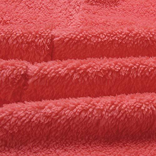 Tops Manches Vêtement Manteau Capuche Femmes D'extérieur Lenfesh Rouge Ouverte À Longues Avant Cardigan Poche Veste PYgqw57w