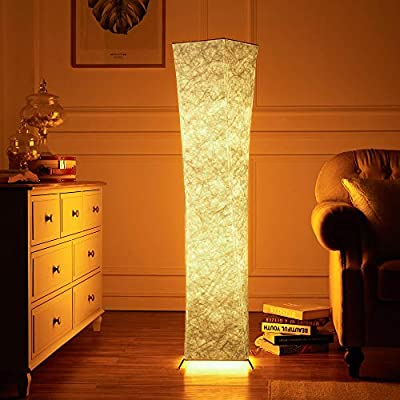 CHIPHY RGB Floor Lamp Remote Control LED Soft Lighting,Minimalist Modern Dimmable Standing Light with 2 Smart Bulbs with Soft Light,Cozy Lamps for Living Room, Bedroom,Office,Hotel.SF21X-107(A)-RGB