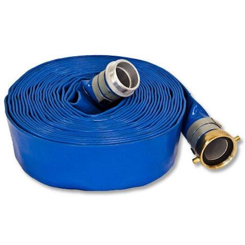 Blue 2.0'' x 100' Lightweight Discharge Hose by FireHoseDirect