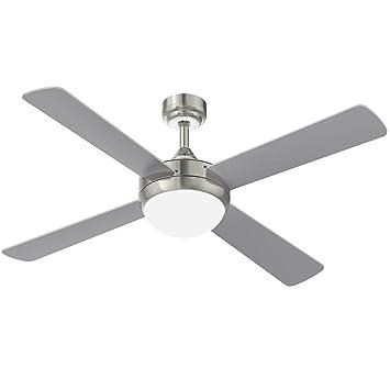 Deckenventilator Mit Licht Und Fernbedienung, YUNLIGHTS 52 Zoll Ventilator  Lampe Mit 4 Klingen, 6