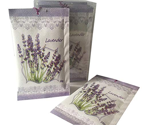 Lavender Scent Sachets Pack of 22 | Deodorizer, Moth Repellent for Closets Clothes Freshener and Drawers Cupboards Storage Accessories ()