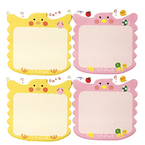 (Wrapables Lounging Animal Memo Sticky Notes, Birdie, Set of 2)