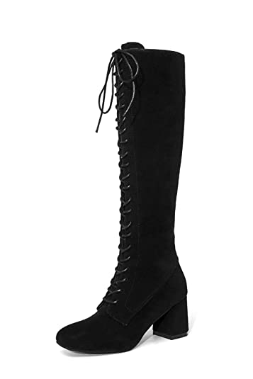 f603d5c4010 clearence Women Shoes clearence Luluzanm Women Cross-Tied Platform Shoes  High Boots Over The Knee Boots Flat Heel Boots