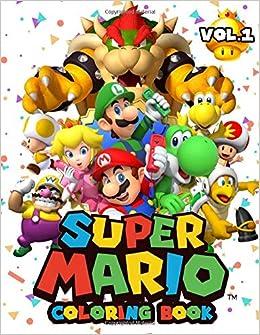 Super Mario Coloring Book 50 Illustrations Mario Brothers Coloring Books For Kids Richard Paul 9781703458152 Amazon Com Books