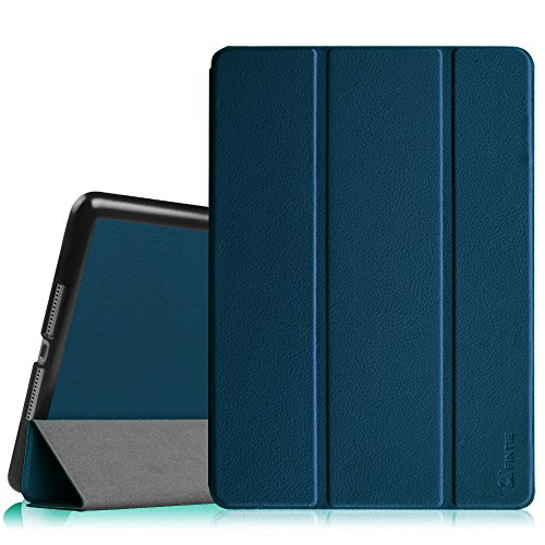 Fintie iPad Air 2 Case (2014 Release) - [SlimShell] Ultra Lightweight Stand Smart Protective Cover with Auto Sleep/Wake Feature for Apple iPad Air 2, Navy (Best Ipad Air 2 Case For Reading)