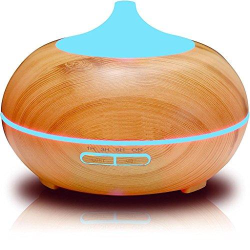 miaomiao Wood Grain Humidifier Office Household Desktop Ultrasound Atomization Diffusion Humidifier 16.816.5cm, b by miaomiao (Image #7)