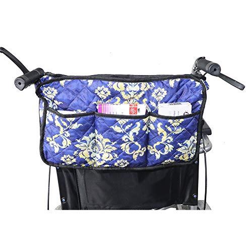 (Walker Basket,Rollator Tray, Universal Walker Bag, Rollator Tote Organizer Pouches, Wheelchair Scooter Side Bag Storage Cases (HGJ246))
