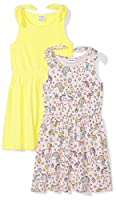 Amazon Brand - Spotted Zebra Girls' Toddler & Kids 2-Pack Knit Sleeveless Knot Shoulder Dresses