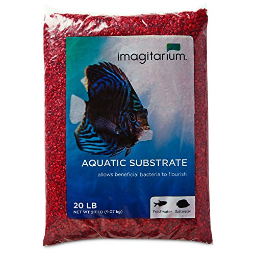 Image of Imagitarium Strawberry Red Aquarium Gravel, 20 LBS