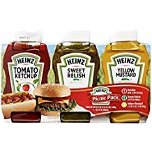 Heinz Tomato Ketchup, Relish, and Mustard Picnic Pack, 3 Count