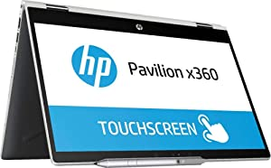 """HP Pavilion x360 2019 Flagship 14"""" HD Touchscreen 2-in-1 Business Laptop/Tablet, Intel Dual-Core i3-8130U up to 3.4GHz 8GB DDR4 512GB SSD USB 3.1 Type-C Bluetooth 4.2 802.11ac Stylus Pen Win 10"""