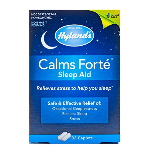 - Hyland's Calms Forte' Sleep Aid Caplets, Natural Relief of Nervous Tension and Occasional Sleeplessness, 32 Count