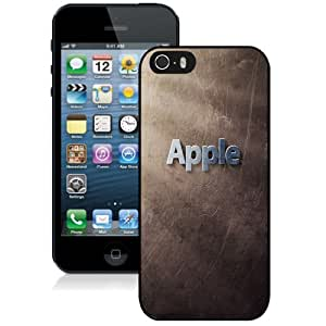 Beautiful Custom Designed Cover Case For iPhone 5s With Grunge Apple Logo Phone Case