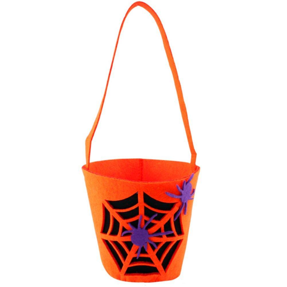 iTemer portacioccolatini per Halloween per bambini, graziosa borsa per dolcetti, decorazione per Halloween, 1#, 10*36cm