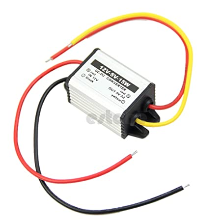 BlackPJenny Waterproof DC to DC Converter 12V to 3-9V 2A 3A Auto Car Power Module Supply Copper Cord Step-Down Voltage Regulator