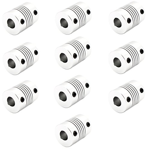 Optimus Electric 10pcs Flexible Coupler Hub 5mm x 8mm for Servo/Stepper Motor Connections and 3D Printer/CNC Machine Coupling from