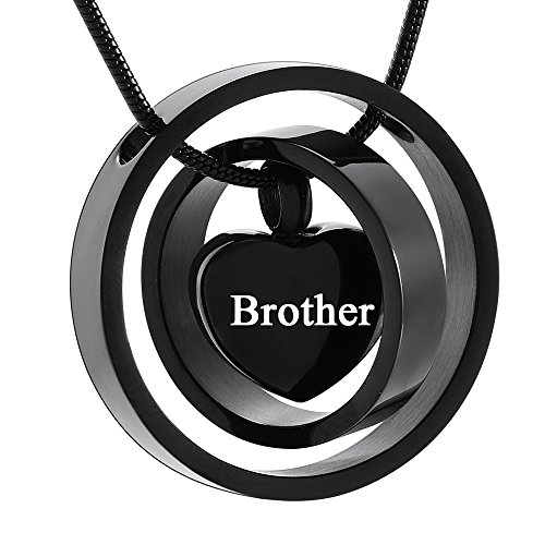 Memorial Jewelry Silver Cremation Jewelry My Mom My Dad My Son My Sister My Friend Urn Necklace Circle Life Keepsake Pendant for Ash