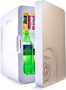 Pinzhi Compact Refrigerators 20L Low Noise Car Refrigerator, Low Power Student Dormitory Refrigerator Semiconductor Refrigeration Heating Compact Refrigerators (Color : Gold)