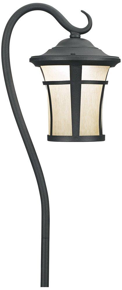 Textured Black LED Carriage Landscape Light with Hook