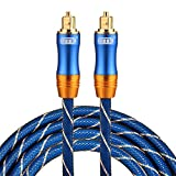 Optical Cables, EMK LSYJ-A 2m OD6.0mm Gold Plated Metal Head Toslink Male to Male Digital Optical Audio Cable