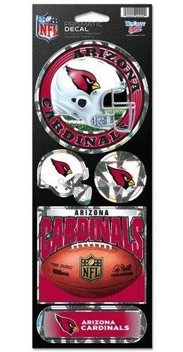WinCraft NFL Arizona Cardinals Prismatic Stickers, Team Color, One Size (Wincraft Arizona Cardinals Decal)