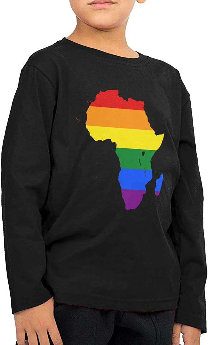 WZMD The Pan Africanist Diary Childrens Long Sleeve T-Shirt for Boys Girls