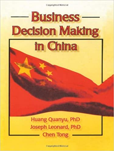 Download online Business Decision Making in China PDF