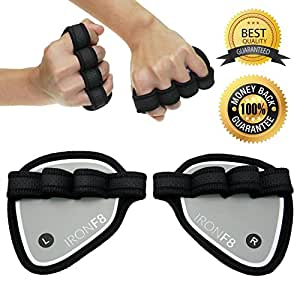 The Iron Weight Lifting Grip Pads (Medium Sized) - The Ultimate Weight Lifting Grips - #1 Alternative to Workout Gloves - Sweat-proof & Lightweight Weight Lifting Hand Grips