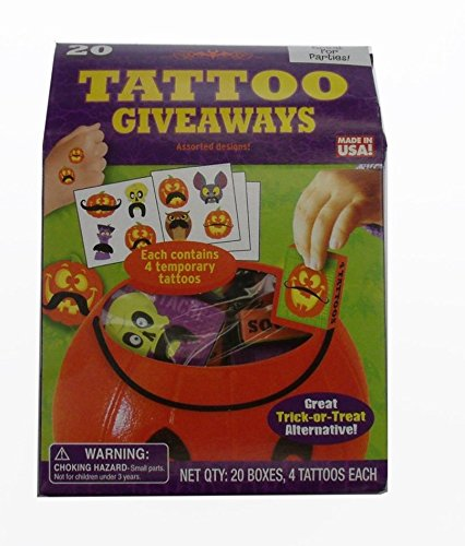 Halloween Temporary Tatoo Giveawys