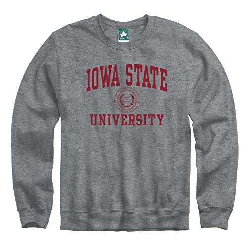 Cotton//Poly Blend Heritage Logo Grey NCAA Colleges and Universities Ivysport Hooded Sweatshirt