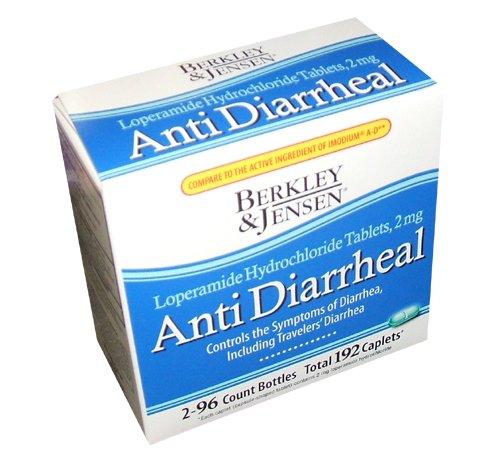 Berkley et Jensen anti-diarrhéiques Medicie chlorhydrate de lopéramide comprimés 2 mg 192 comprimés par ordre